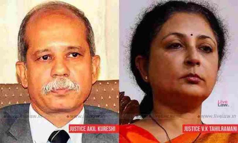 बेंगलुरु एडवोकेट्स एसोसिएशन ने CJI को लिखा पत्र, जस्टिस ताहिलरामनी, जस्टिस कुरैशी पर लिए गए फैसलों के कारण  खुलासा करने का आग्रह