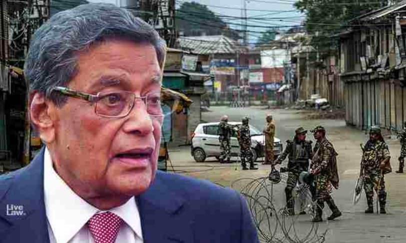 कश्मीर में आतंकवाद रोकने के लिए प्रतिबंध आवश्यक, अटॉर्नी जनरल ने सुप्रीम कोर्ट में कहा