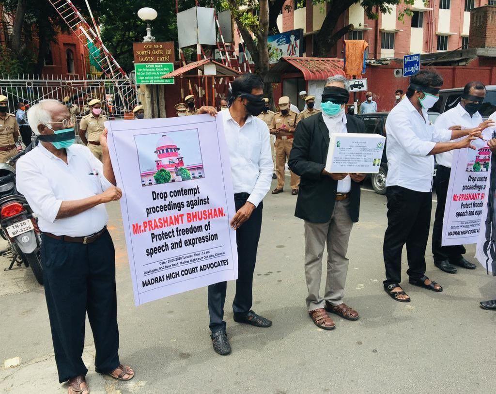 प्रशांत भूषण के खिलाफ की गई कार्यवाही न्याय का मज़ाक हैः चेन्नई के वकीलों का सुप्रीम कोर्ट को पत्र