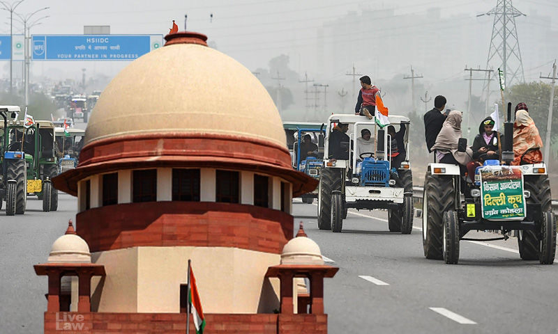 Supreme Court Tractor Rally Of Farmers